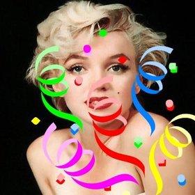 etiqueta com confetes coloridos decorar imagens online