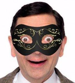Máscara preta com ouro para colocar em suas fotos