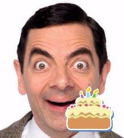 Etiqueta de um bolo de aniversário para colocar em suas fotos