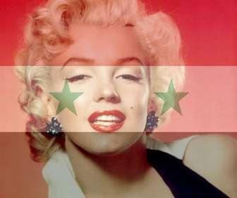 fotomontagem da bandeira siria sua foto
