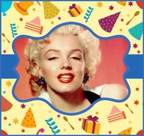 Linha do cartão colorido para uma festa de aniversário.