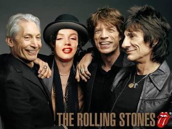 fotomontagem rolling stones personificar o seu