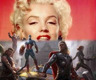 A instalação dos primeiros Avengers defendem a cidade com a sua foto acima.