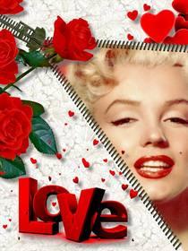 quadro fotos online love  inclui foto voce deseja ao abrir um ziper rosas enfeitam montagem