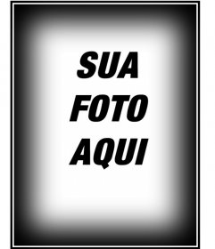Faça ajuste às suas imagens com os nossos montaagens, neste caso, uma moldura composto por uma borda em preto e branco para fotos na vertical