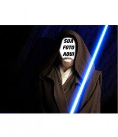Fotomontagem de Obi Wan Kenobi nas filme Star Wars. Crie a colagem com suas fotos