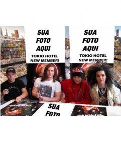 Colagem para colocar a sua foto no novo membro do Tokio Hotel