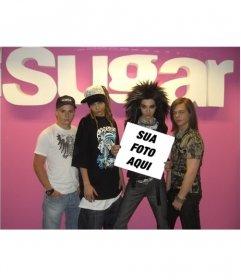 Foto montagem para colocar a sua foto em um cartaz realizado pelo grupo Tokio Hotel como seu melhor fã