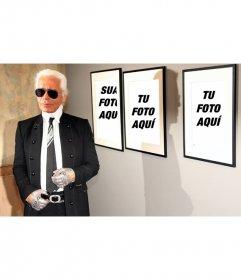 Foto efeito, juntamente com Karl Lagerfeld. Coloque sua foto nas fotos