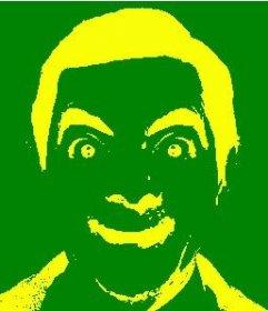 Esta foto será um efeito negativo em sua imagem com as cores da seleção brasileira de futebol