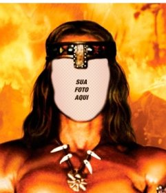 Ponha seu rosto nesta fotomontagem on-line de Conan, o Bárbaro