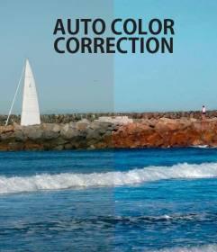 Correção automática de cor de fotografias online