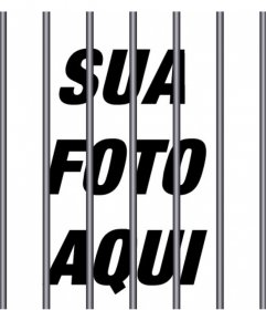 barras de aço para adicionar as suas fotos para dar um efeito de prisão