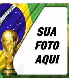 Efeito para fotos com a bandeira do Brasil e que o casal copa do mundo appose o fundo da foto