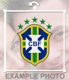 Escudo da equipe nacional de futebol Brasil para adicionar as suas fotos