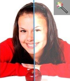 efeito on-line para clarear fotos escuras on-line, você pode retocar suas fotos digitais escuro, com este filtro de adicionar brilho às imagens, como em um editor gráfico.
