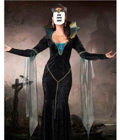 Fotomontagem para colocar seu rosto no corpo de uma bruxa