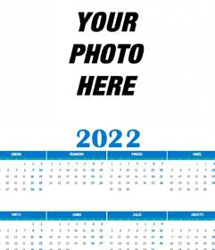 Calendário 2018 ano completo 12 meses com sua foto