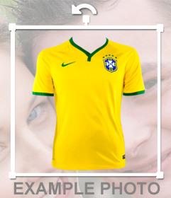 Etiqueta com o Brasil camisa para colocar no seu quadro