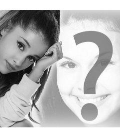 Mount para fotos da cantora Ariana Grande em