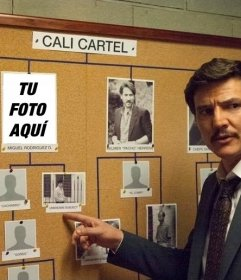Fotomontagem do Cartel de Cali com Javier Peña da DEA