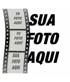 Fotomontagem De Filme Cinema Para Fazer Com 4 Fotos Uma Foto No