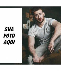 Coloque sua foto ao lado de Chris Evans sentado Fotoefeitos