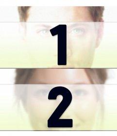 Criar uma colagem com duas fotos divididas horizontalmente