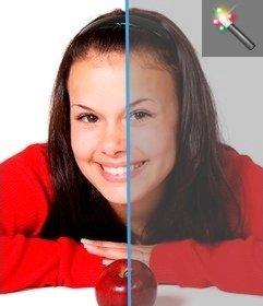 Filtro de imagens para adicionar o contraste de imagens desta página sem ter que baixar um editor de gráficos. Publique as suas fotos e você pode editar facilmente