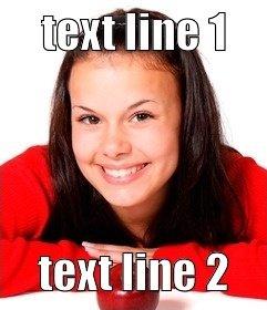 Criador de memes on-line para fazer com suas fotos. Coloque o texto que você quer em uma foto online