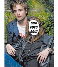 Fotomontagem para colocar um rosto em Kristen Stewart com Robert Pattinson da série de filmes Twilight.