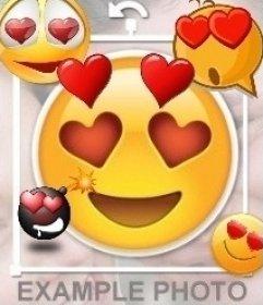 Editor para colocar o amor emoji com os olhos do coração nas minhas fotos
