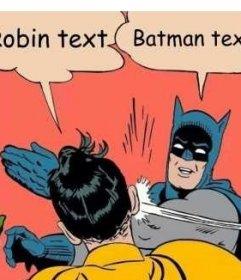 Criador da fotomontagem da cena em que Batman lhe dá um tapa para Robin