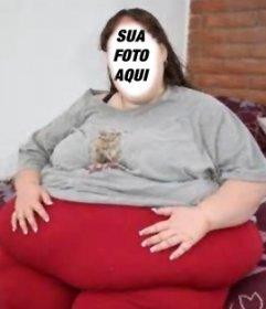 Torne-se em uma mulher muito gorda com esta fotomontagem engraçado