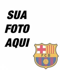 Fotomontagem para colocar o escudo do FC Barcelona em sua foto.