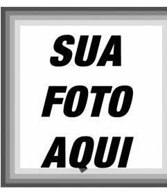 Moldura com vários tons de filtro de cinza e preto e branco para suas fotos