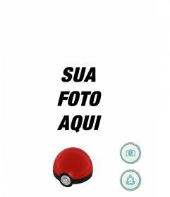 Tela de Pokemon Go jogo que pode ser editado com qualquer imagem