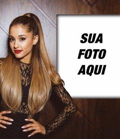 Efeito da foto com Ariana Grande para colocar sua foto