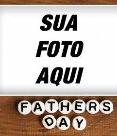 Quadro de imagem especial para comemorar Dia dos pais com uma foto