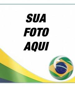 Montagem com a bandeira da Brasil para adicionar suas fotos de fundo