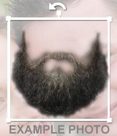 Fotomontagem para colocar uma barba em sua foto