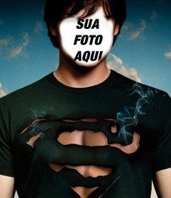Fotomontagem para personificar Tom Welling de Smallville como Superman