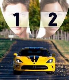 Colagem de tunning carro para colocar duas fotos