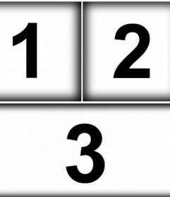 Personalize esta colagem para três fotos com bordas borradas