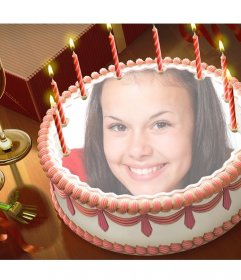 Coloque sua foto em um bolo de aniversário com este efeito