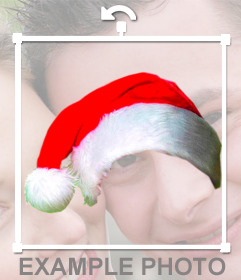 Fotomontagem para colocar um tampão do Natal em sua foto on-line, sem o conhecimento design
