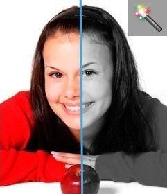 Programa on-line que mostra a imagem em escala de cinza. Pode ser usado com fotos coloridas para pasar a preto e branco.