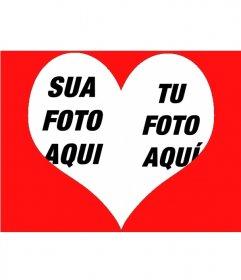 Efeito de foto para colocar duas fotos dentro de um coração