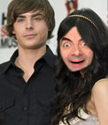 Fotomontagem de Vanessa Hudgens, Zac Efron com High School Musical