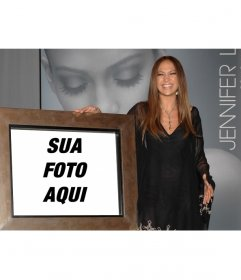 Fotomontagem da Jennifer Lopez para tirar uma foto com ela